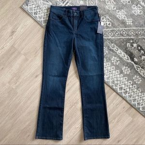 NEW NYDJ Barbara Bootcut Stretch Dark Wash Jeans